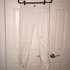 Cello Distressed White Jeans